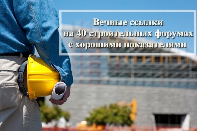Вечные ссылки на 40 строительных форумах с хорошими показателями 1 - kwork.ru