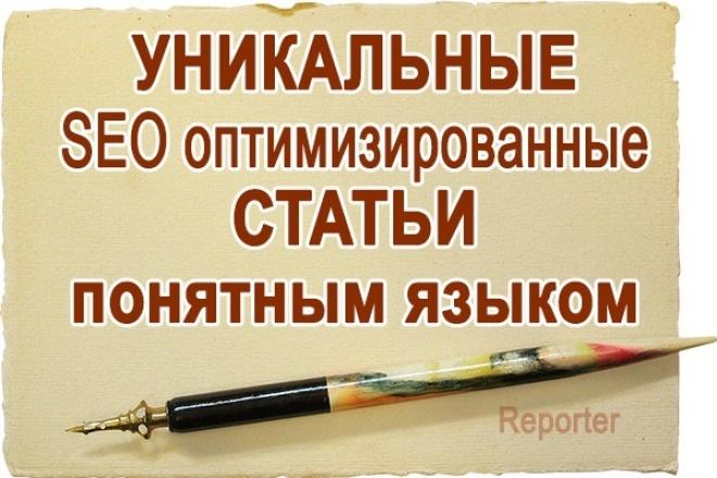 Уникальные SEO статьи высокого качества 1 - kwork.ru