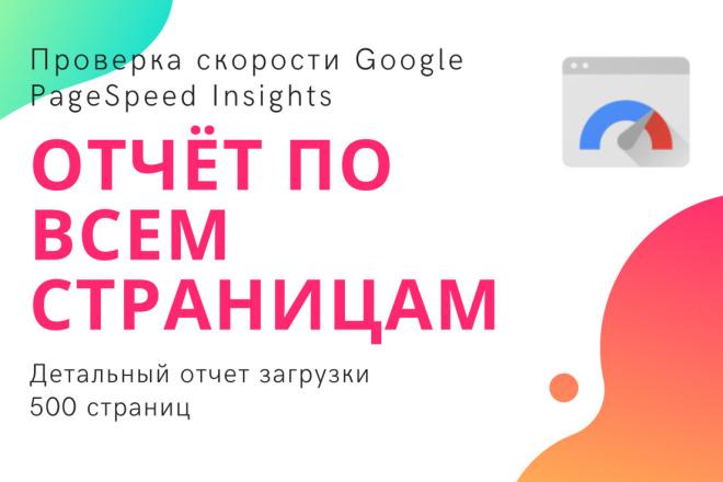 Скорость сайта - массовая проверка страниц Google PageSpeed Insights 1 - kwork.ru