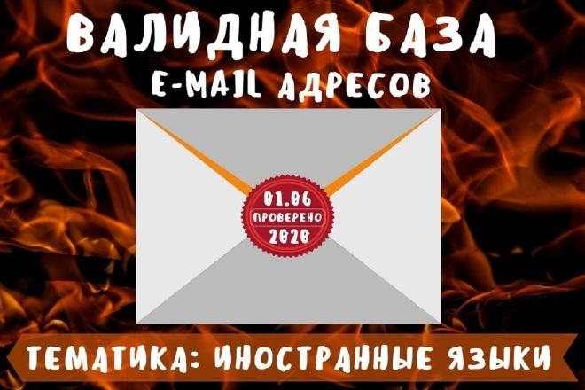 База из 94661 email адресов. Тематика иностранные языки фото