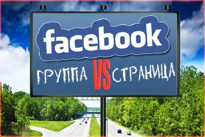 Создание группы страницы в Фейсбуке 1 - kwork.ru