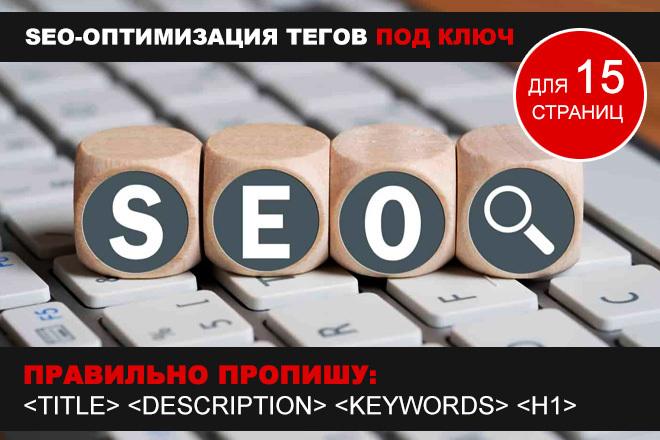 Правильно пропишу Title, Description, Keywords и H1 для 15 страниц 1 - kwork.ru