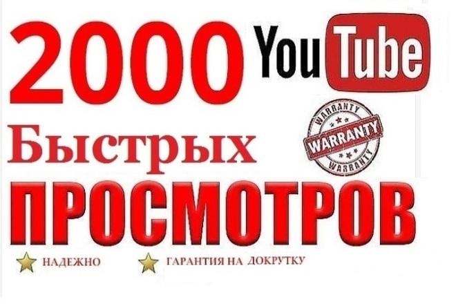 Добавлю 2000 быстрых просмотров на видео Youtube. - Качественные 1 - kwork.ru