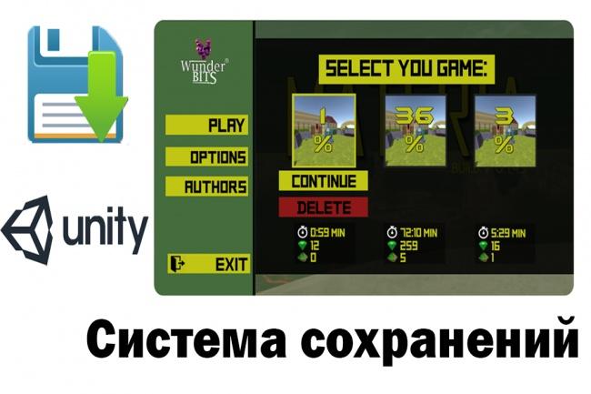 Система сохранений для вашей игры на Unity 2 - kwork.ru