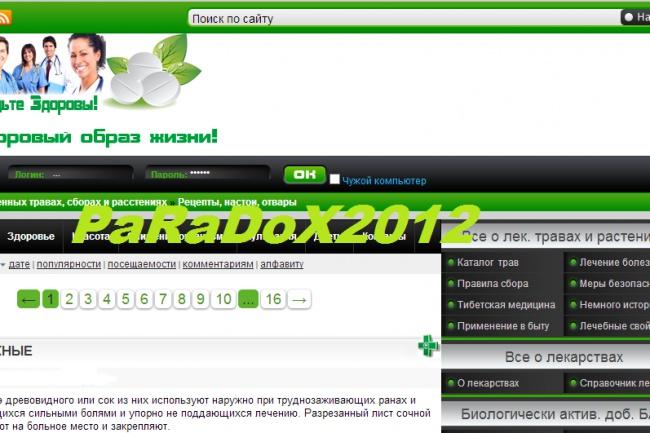 Сайт на медицинскую тематику, 380 статей 1 - kwork.ru