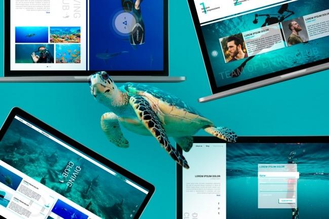 Дизайн сайта PSD 52 - kwork.ru