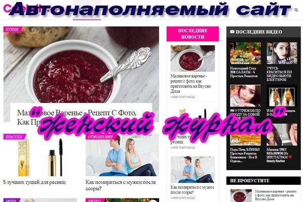 Автонаполняемый сайт на Вордпресс, на премиум шаблоне женски журнал 1 - kwork.ru