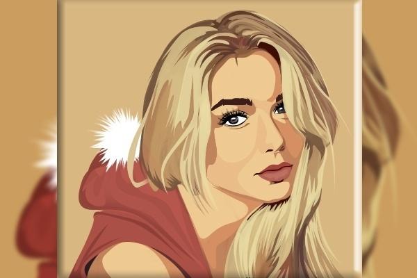 Векторный портрет 11 - kwork.ru