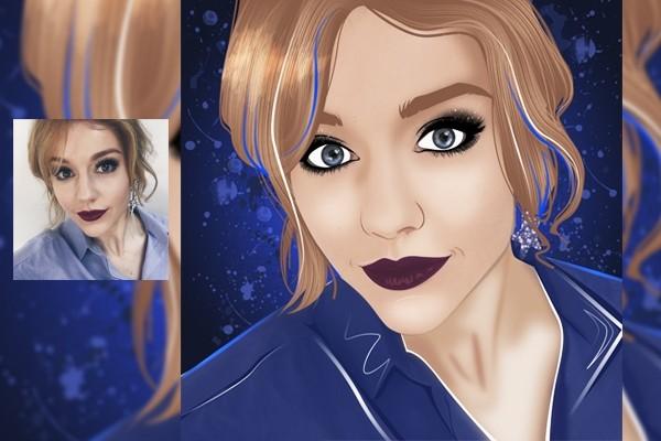 Векторный портрет 13 - kwork.ru