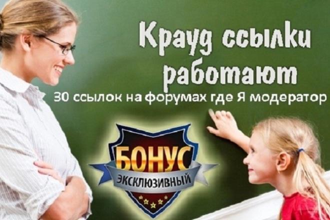 Работающий Крауд на форумах 1 - kwork.ru
