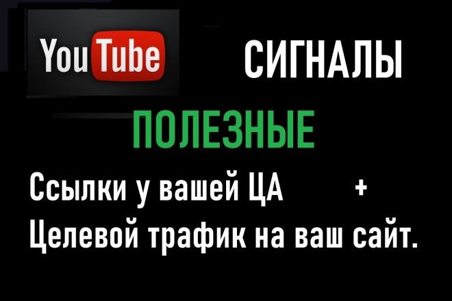 Сигналы из YouTube. Ссылки увидит ваша ЦА и получите Целевой трафик 1 - kwork.ru