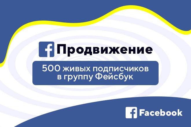 Безопасно 500 живых вступивших в группу Facebook 1 - kwork.ru