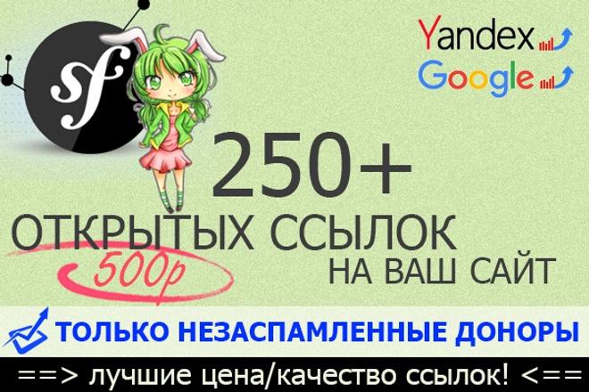 +250 открытых ссылок с незаспамленных сайтов 1 - kwork.ru
