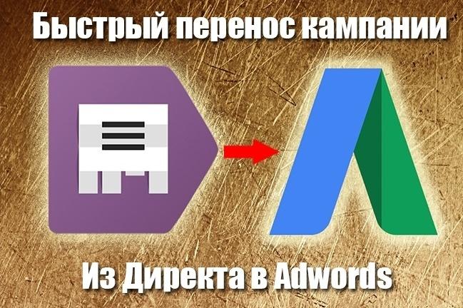 Быстрый перенос кампании из Директа в Adwords 1 - kwork.ru
