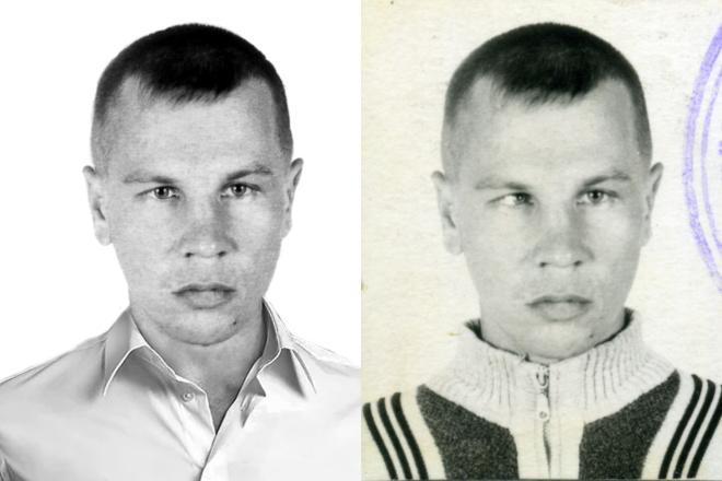 Ретушь фото Цветное фото из черно-белого 8 - kwork.ru