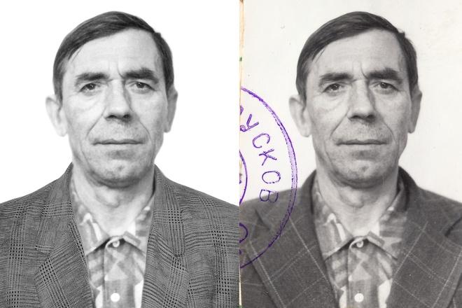 Ретушь фото Цветное фото из черно-белого 3 - kwork.ru