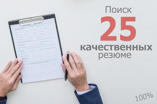 Поиск резюме 1 - kwork.ru