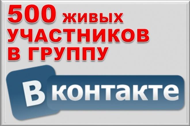 500 живых участников в группу ВКонтакте, без ботов и программ 1 - kwork.ru