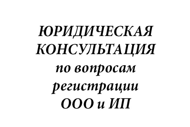 Юридическая консультация по регистрации ООО и ИП 1 - kwork.ru