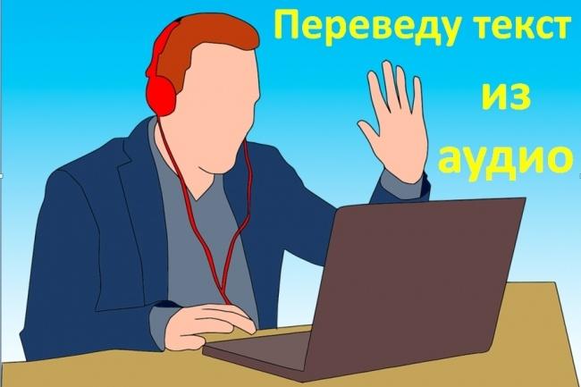 Наберу текст из аудиозаписи или видеозаписи 1 - kwork.ru