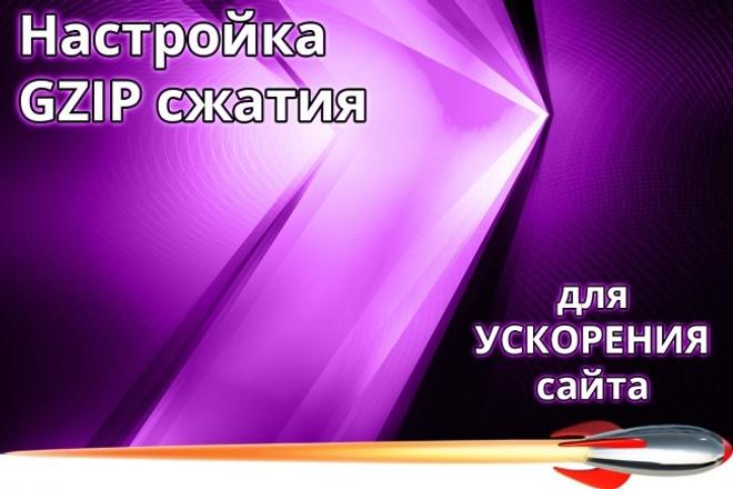 Настройка GZIP сжатия - уменьшаем время загрузки сайта 1 - kwork.ru
