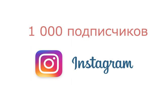 1000 подписчиков Instagram, Инстаграм - и лайки 1 - kwork.ru