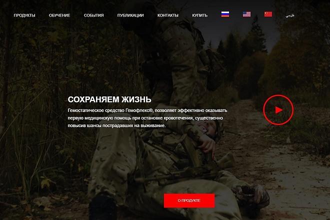 Верстка одной секции или блока сайта по psd макету 3 - kwork.ru