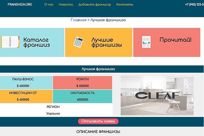 Верстка одной секции или блока сайта по psd макету 8 - kwork.ru