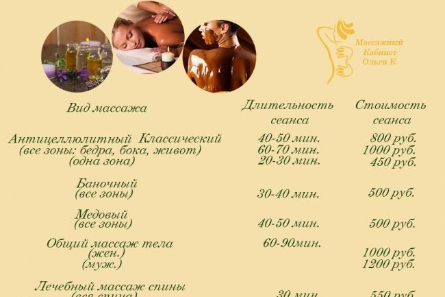 Прейскурант цен 6 - kwork.ru