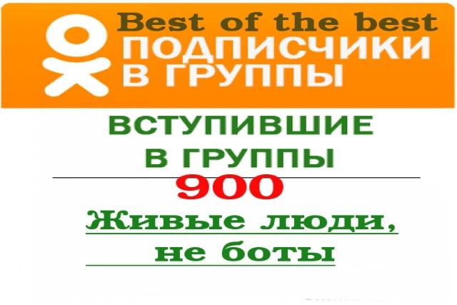 Одноклассники 900 живых подписчиков в группу 1 - kwork.ru