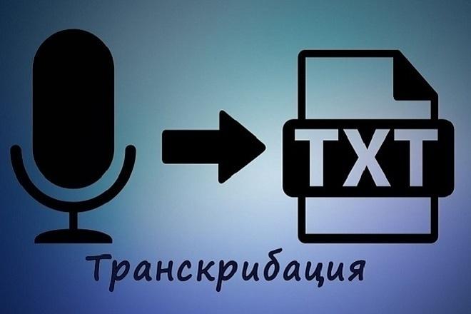 Переведу аудио, видео в текст, сделаю транскрибацию 1 - kwork.ru