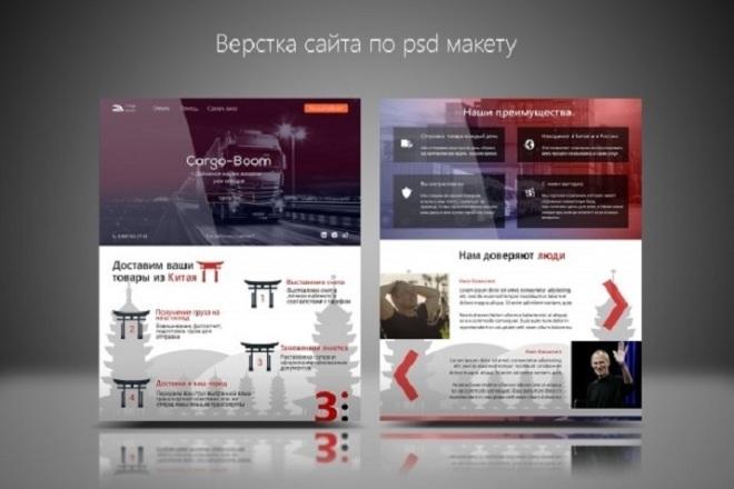 Вёрстка по PSD макету, на выгодных условиях 26 - kwork.ru