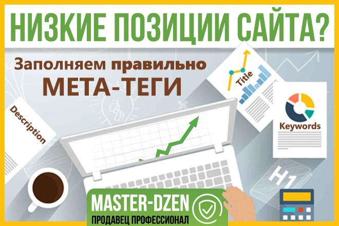 Составлю Title, H1 и Description для 15 страниц 1 - kwork.ru