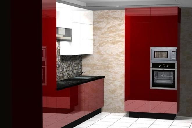 Создам 3D дизайн-проект кухни вашей мечты 21 - kwork.ru