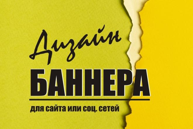 Выполню дизайн баннера для сайта или соц. сетей 11 - kwork.ru