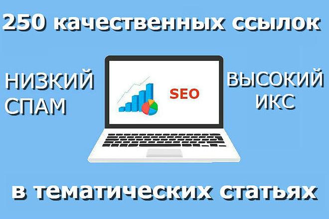250 ссылок в тематических статьях, включая статью 1 - kwork.ru