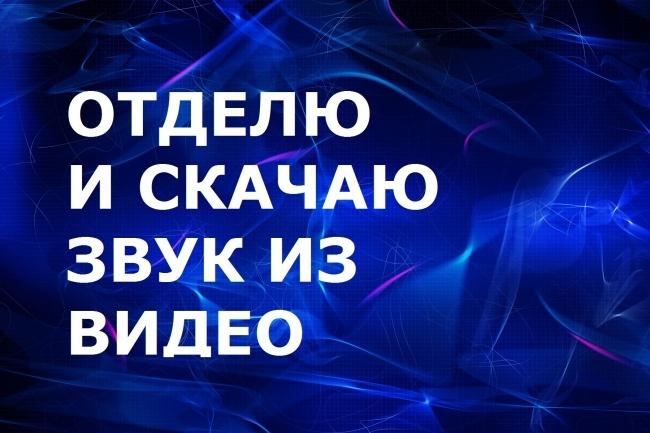 Отделю ЗВУК ОТ видео 1 - kwork.ru