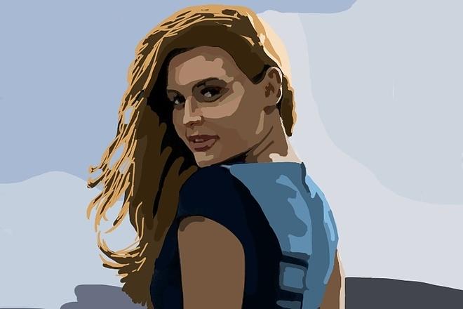 Нарисую портрет в растровой или векторной графике 10 - kwork.ru