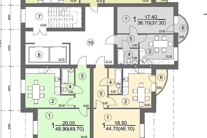 Планировка и перепланировка квартиры 5 - kwork.ru