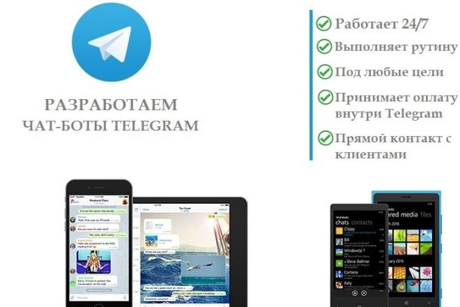 Разработаю чат-бота 1 - kwork.ru