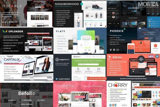 Подберу Premium шаблон WordPress + помогу настроить его фото