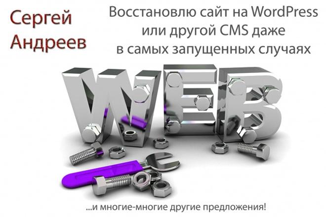 Восстановлю сайт на wordpress даже в самых сложных случаях 1 - kwork.ru