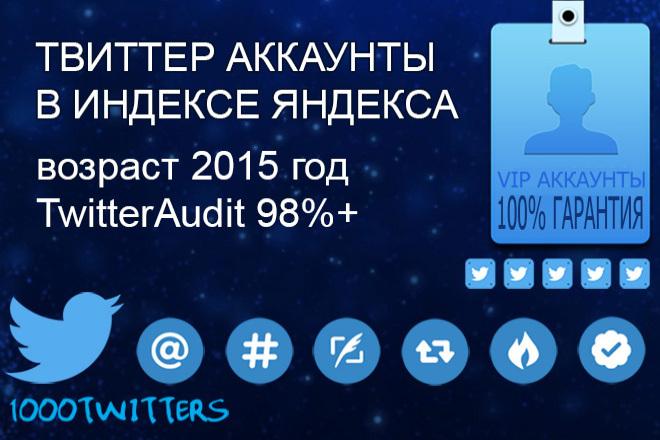 1 Прокачанный Твиттер аккаунт 2015 года Twitter Audit 98%+ 1 - kwork.ru