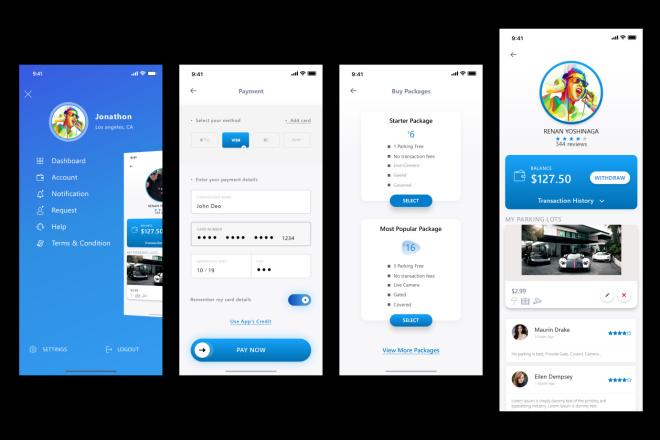 UI UX Дизайн мобильного приложения iOS and Android 1 экран 4 - kwork.ru