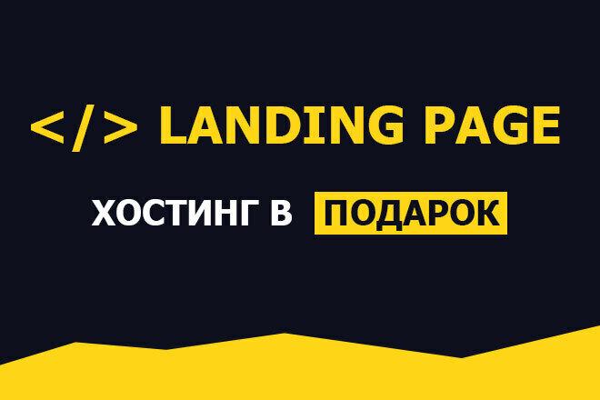 Создам лендинг с хостингом в подарок, разработка лендинг пейдж 10 - kwork.ru