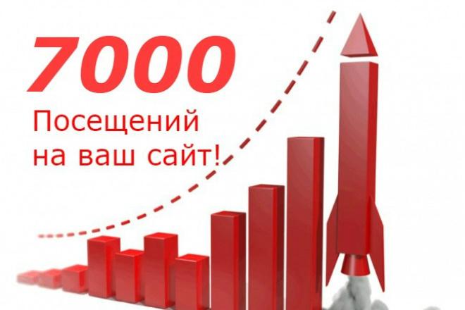 Приведу 7000 - Уникальных посетителей на ваш сайт в течение недели 1 - kwork.ru