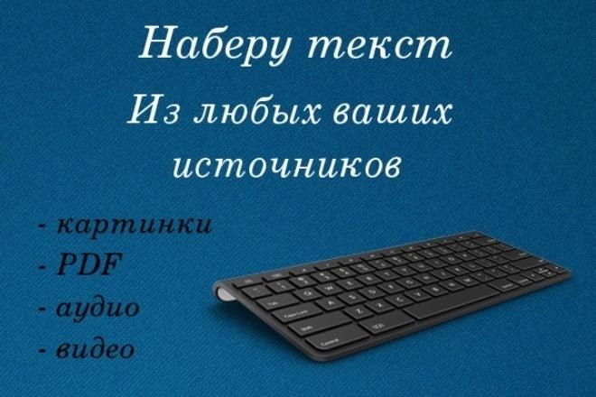 Формирование текста из видео и не только 1 - kwork.ru