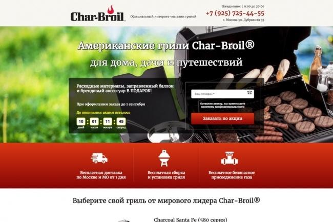Продающий Landing Page под ключ 50 - kwork.ru