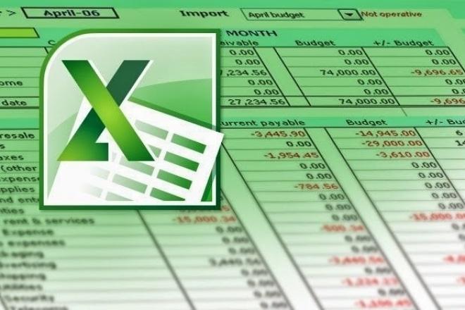 Выполню работу в Excel 1 - kwork.ru