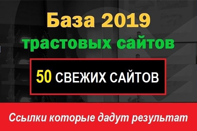 Свежайшая база трастовых сайтов 50шт. взрыв показателей сайта фото